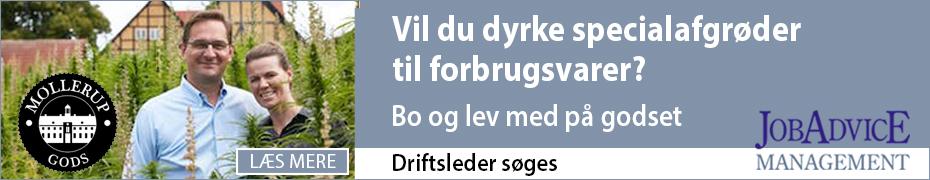 Udadvendt Driftsleder søges til Møllerup Gods i Østjylland